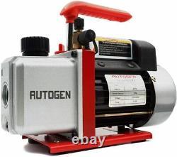 110V 4CFM 1/3HP Air Vacuum Pump HVAC R134a R12 R22 R502 A/C Manifold Gauge Set