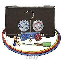 134A Aluminum Manifold Gauge Set with 60 Hoses and Standard Couplers New