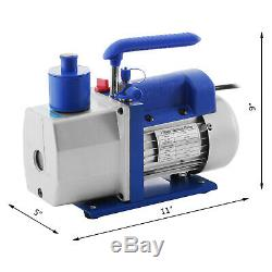 1/3hp Vacuum Pump AC HVAC Refrigeration Kit Manifold Gauge Set R22 R134A R410A