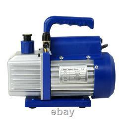 1/4HP Air Vacuum 3,5 CFM Pump with Combo A/C Manifold Gauge R134A R410a R22 Set