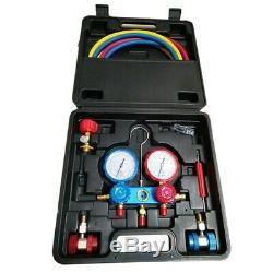 3XAuto Manifold Gauge Set A/C Refrigeration Kit with 2 Quick Coupler AC Manifol