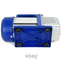 3,5CFM 1/4 Combo HP Air Vacuum Pump HVAC + R134A AC A/C Manifold Gauge Set Kit