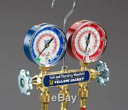 42024 YELLOW JACKET R-410A, R-32 Mechanical Manifold Gauge Set, 2-Valve, HOSES