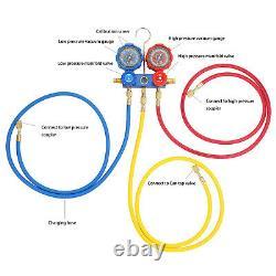 4CFM 1/3HP Vacuum Pump Set HVAC Refrigeration Manifold Gauge Can Tap r134a R410a