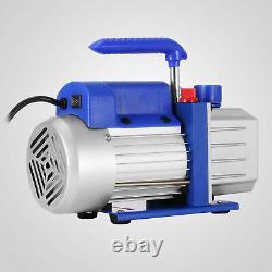 4CFM 1/3hp Air Vacuum Pump HVAC Refrigeration AC Manifold Gauge Set R134a Kit
