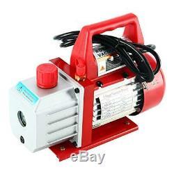 4CFM Air Vacuum Pump HVAC Refrigeration Kit AC Manifold Gauge Set Leak Detector