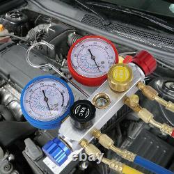 4 Valve R410a R22 R134a Refrigerant Diagnostic Tool HVAC AC Manifold Gauge Set