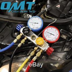 4 Way AC Diagnostic Manifold Gauge Set for Freon Charging and Vacuum Pump Evacua