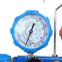 5CFM 1/3HP Air Vacuum Pump HVAC + R134A R410A Kit AC A/C Dual Manifold Gauge Set