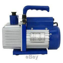 5CFM Vacuum Pump VALVES MANIFOLD GAUGE R410A R134A R22 HVAC AC Refrigerant Set