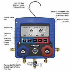 99872-A Blue R134A Digital Manifold Gauge Set with 72 Hose and Manual Coupler
