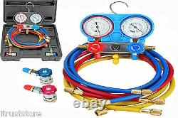 AC A/C R-134A Manifold Gauge Set with Hose and Couplers