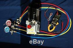 AC HVAC Tool KitDeep Vacuum Pump+Manifold Gauge Set R410a+Clamp ammeter Tester