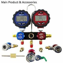 AC Manifold Gauge Set 2 Way Fits R134A R410A and R22 Refrigerants with DMG-3