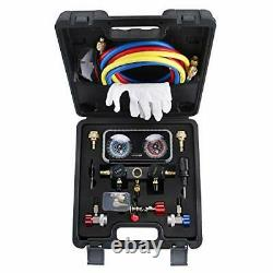 AC R1234YF R134A Gauge Set, Automotive Manifold Gauge Compatible with R1234YF R