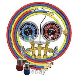 ATD #3661 R1234yf 2-Way Brass Manifold Gauge Set