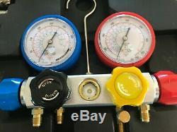 AURELIO TECH 4 Way AC Manifold Refrigerant Gauge Set R410A R22 R134A SHIPS FREE