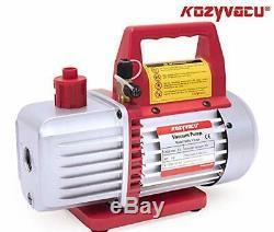 AUTO AC Repair Complete Tool Kit 1-Stage 3.5 CFM Vacuum Pump Manifold Gauge Set