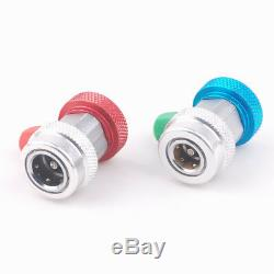 A/C R134A Quick Coupler Connector Adapters High Low Manifold AC Gauge Auto Set T