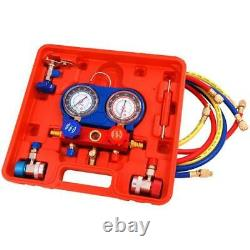 Ac Manifold Gauge Tool Set A/c Air Conditioning Diagnostic Kit Refrigeration New