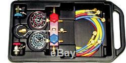 Air Conditioning Manifold & Gauge Set Dual R12 R134A T&E Tools AC900