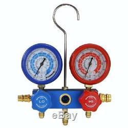Air Vacuum Pump HVAC A/C Refrigeration Kit 3CFM or 4CFM Manifold Gauge Tool Set