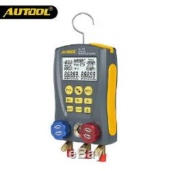 Autool Refrigerantion Digital Manifold Meter Pressure Temperature HVAC Gauge Set