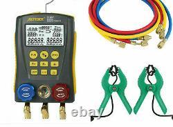 Autool lm 120 Digital Manifold Gauge Set HVAC Vacuum Temperature Leakage Tester