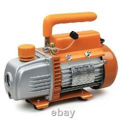 BACOENG 3.6CFM Vacuum Pump & Manifold Gauge Set HVAC A/C Refrigeration Kit