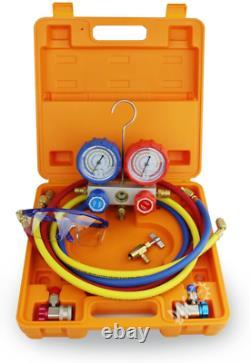 BACOENG HVAC A/C Refrigeration AC Manifold Gauge Set Ideal for R134A R410A R407C