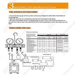 BACOENG Professional Vacuum Pump & Manifold Gauge Set HVAC A/C Refrigeration