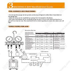 BACOENG Professional Vacuum Pump & Manifold Gauge Set HVAC A/C Refrigeration K