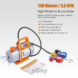 BACOENG Professional Vacuum Pump Manifold Gauge Set HVAC A/C Refrigeration K