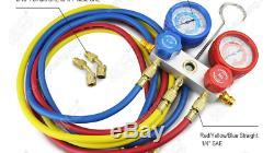BACOENG Vacuum Pump & Manifold Gauge Set HVAC A/C Refrigeration Kit Diagn