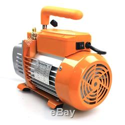 BACOENG Vacuum Pump & Manifold Gauge Set HVAC A/C Refrigeration Kit R12 R22