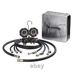 BLACKMAX MV4H4P5EZ Mechanical Manifold Gauge Set, 4 Valves