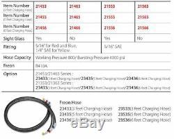 BLACK DIAMOND MANIFOLD GAUGE CHARGING HOSE SET 5/16 SAE R410A 60 150cm 800 PSI