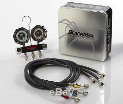 CPS MBH4P5EZ BlackMax 2-Valve Premium Automotive Manifold and Guage Set