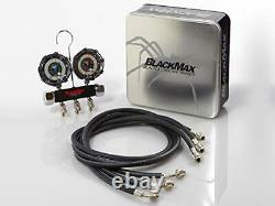 CPS Products BlackMax MBH4P5Z 2-Valve Manifold Gauge Set R-134A 22 404A 410A