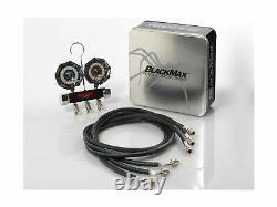 CPS Products BlackMax MBH4P5Z 2-Valve Manifold Gauge Set, R-134A, 22, 404A, 4