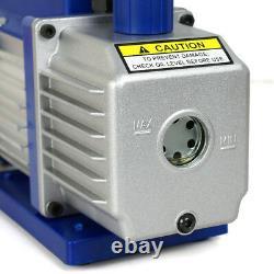 Combo 3,5CFM 1/4HP Air Vacuum Pump AC A/C Manifold Gauge Set HVAC + R134A Kit