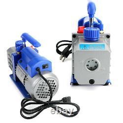 Combo 3,5CFM 1/4HP Air Vacuum Pump HVAC+R134A Kit AC A/C Manifold Gauge Set