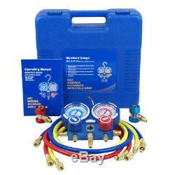 Combo 5 CFM 1/3HP Air Vacuum Pump HVAC + R134A Kit AC A/C Manifold Gauge Set