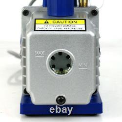 Deluxe R134a R410a R22 Manifold Gauge Set & 3,5CFM Vacuum Pump 4ft HVAC Hoses
