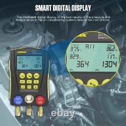 Digital Gauge Refrigeration Manifold for HVAC Vacuum Temp Pressure R134a A/C Set
