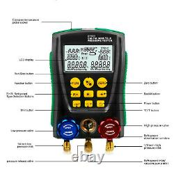 Digital Manifold Gauge Set R410A R134A R22 HVAC System Refrigeration Tester Kit