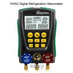 Digital Refrigeration HVAC Manifold Gauge Set Vacuum Pressure Temperature Tester