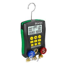 Digital Refrigeration Manifold Gauge Meter Auto HVAC Vacuum Pressure Tester Set