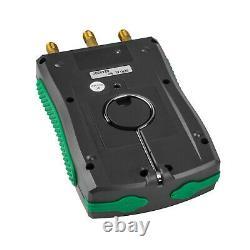Digital Refrigeration Manifold Gauge Meter HVAC Vacuum Pressure Clip Pipes Set