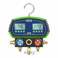 Digital Refrigeration Manifold Gauges HVAC Vacuum Pressure Temp Tester Tool Set
